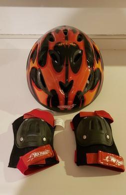 Hot Wheels - Child's Bike Helmet and Knee Pads
