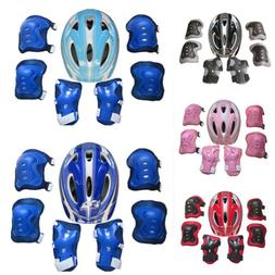 Child's Helmet Pad Set and Knee Elbow and Wrist  Bike HoverB