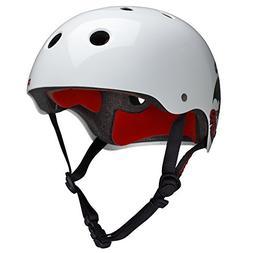 PROTEC Original Classic Helmet CPSC-Certified, Caballero Whi