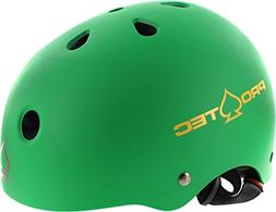 PRO-TEC Classic Matte Rasta Green Skateboard Helmet -  - Jun