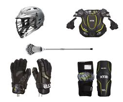 complete youth lacrosse set shoulder pads arm