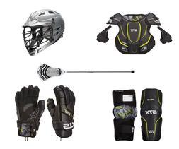 complete youth lacrosse set shoulder pads arm