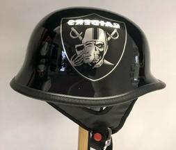 Custom Oakland Raiders Football TCMT Motorcycle Helmet Size