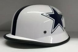 Custom White Dallas Cowboys Football Motorcycle Helmet One S