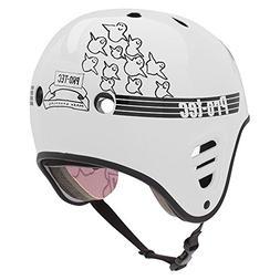 Pro Tec Full Cut Skate Gonz Helmet - White - LG