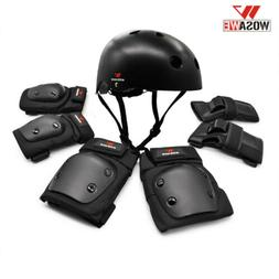 Cycling Helmet Skateboard Knee Elbow Pads Protective Gear Wr