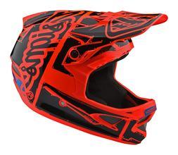Troy Lee Designs D3 Fiberlite Helmet Factory Gloss Orange