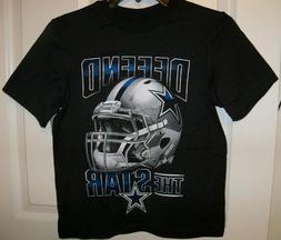 Dallas Cowboys Football Helmet Black Defend Star Shirt Boys