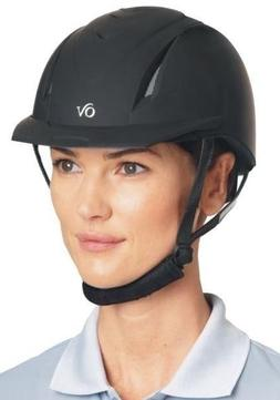 Ovation Deluxe Schooler Riding Helmet - Black, Blue & Purple
