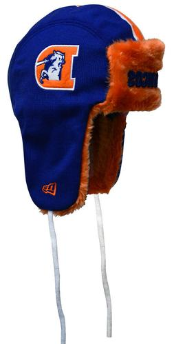 Denver Broncos Throwback New Era Helmet Head Knit Trapper, O