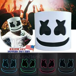 DJ-MarshMello LED Mask Full Head Helmet Halloween Easter Cos