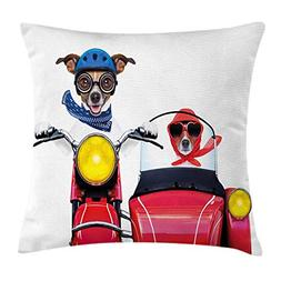YVSXO Dog Driver Throw Pillow Cushion Cover, Jack Russell Te