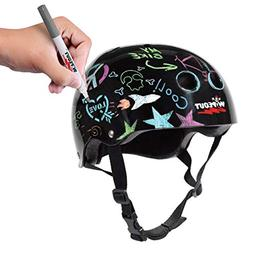 Wipeout Dry Erase Kids' Bike, Skate, and Scooter Helmet, B