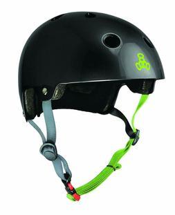 Triple Eight Dual Certified Bike And Skateboard Helmet, Blac