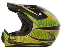 Pryme Evil Full Face BMX / DH Helmet sz Adult L Black/Green
