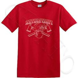 Firefighter Adult's T-shirt Helmet and Axes Tee for Men - 11