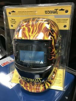 TWECO FLAMES AUTO DARK WELDING HELMET BRAND NEW IN BOX FREE