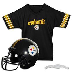 Pittsburgh Steelers Football Helmet and Jersey Top Set