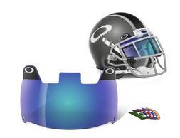 Oakley Football Shield, Blue, One Size