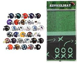 Football Table Cover with 50 Helmets Party Decoration Pack B
