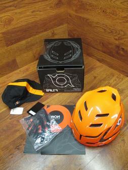 NOW FURI HELMET L/XL ORANGE AND BLACK AND ORANGE CYCLING CAP