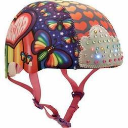 Raskullz Girls Loud Cloud Sparklez Helmet Rainbow Butterflie