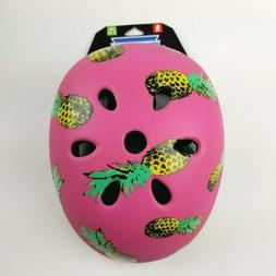Krash Girls Youth Bike Helmet Pink Pineapple Pina Party Mult