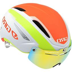 Giro Air Attack Shield Helmet-Matte White / Lime / Flame-L