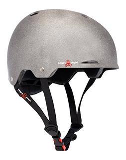 Triple Eight Gotham Helmet, Reflective Darklight, Large/X-La