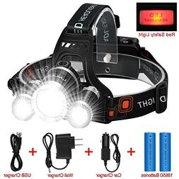 LED Headlamp Flashlight Kit, ANNAN 8000-Lumen Extreme Bright