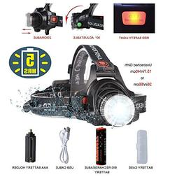 Super Bright Headlamp LED Tactical Flashlight,Rechargeable L