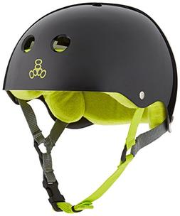 Triple Eight Helmet with Sweatsaver Liner, Black Glossy With