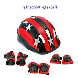 Helmet Bike 7Pcs Safety Bicycle Equipment Comfortable Childr