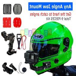 Helmet Front Chin mount & Genuine 3M Sticker for Gopro Hero