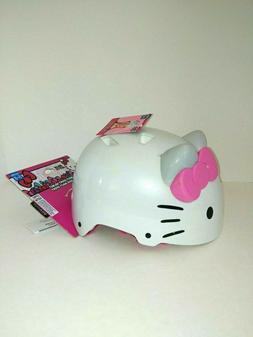 Child Helmet Hello Kitty Ears Bow 3D Girls Head Bikes Protec