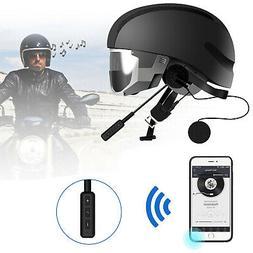 Helmet Motorcycle Headset Speakers Microphone BT Handsfree C