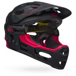 BELL HELMET SUPER 3R MIPS MATTE GLOSS BLACK/CHERRY MEDIUM AL
