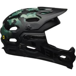 BELL HELMET SUPER 3R MIPS OAK MATTE BLACK/GREENS MEDIUM ALL