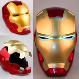 Iron Man Mask LED Light Super Hero Cosplay Mask Adult Kids H