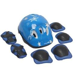 Kid Protective Gear Kit Helmet Knee Elbow Wrist Pad Set for