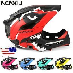 Lixada Kids Bike Helmet,Detachable Full Face Adjustable For