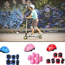 KIDS BOYS GIRLS CHILDS Helmet & Knee & Elbow Pad 7Pcs/Set Cy