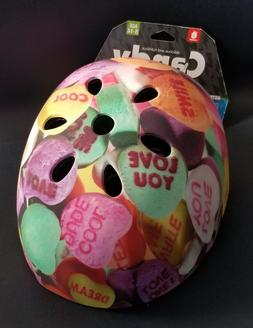 Kids Multi Sport Helmet Candy Hearts By Krush Age 8-14 Brigh