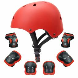 Kids Protective Gear Set Kids Bike Helmet Knee Elbow Pads Wr