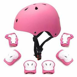 Kids Protective Gear Set Toddler Kids Bike Helmet Knee Elbow
