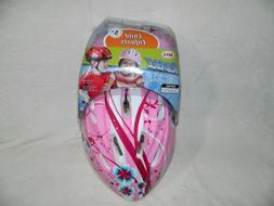 KIDS BELL RIDERZ GIRLS HELMET AND PAD SET AGE 5+ PINK FLORAL