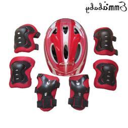 Kids Safety Helmet & Knee & Elbow Pad 1 Set For Cycling Skat