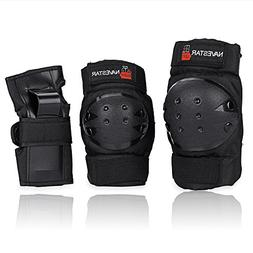 NAVESTAR Knee Pads Elbows Pads Wrist Guards for Kids & Adult