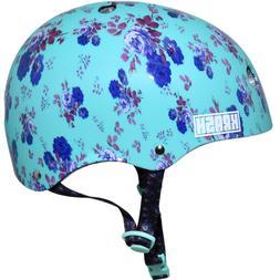 Krash Fierce Flower Youth Bike Helmet Mint Toddlers Gift Gir