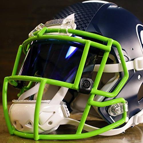 Shoc Tigers Blood Visor Football Lacrosse Helmets